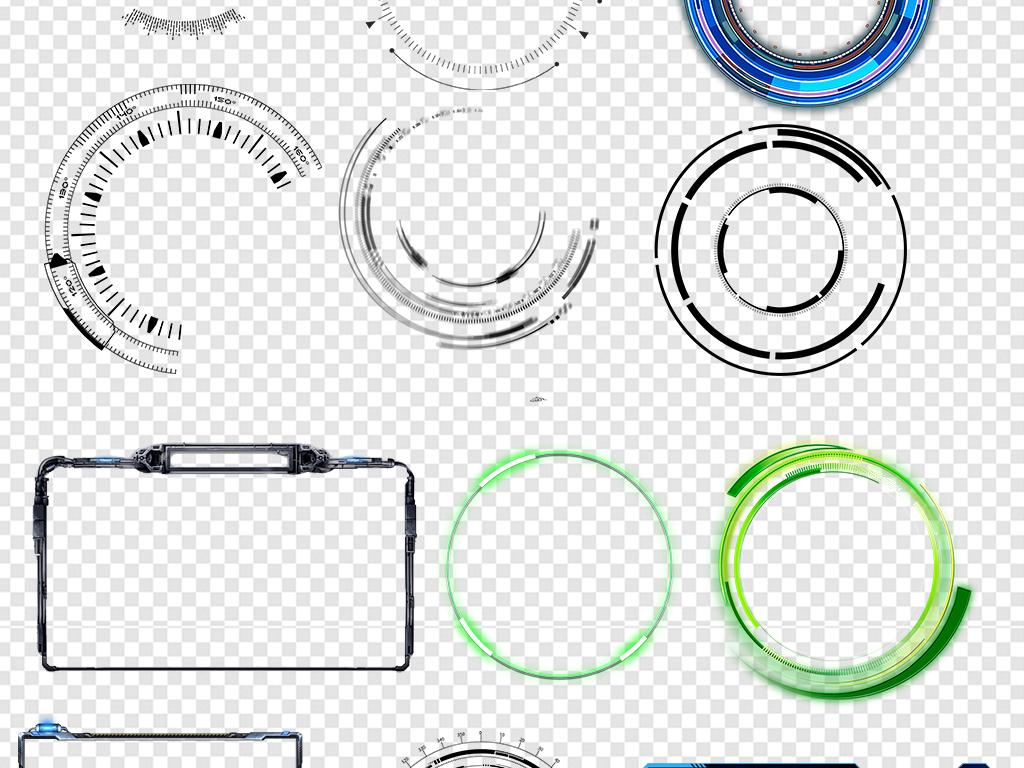 科技圆环圆圈边框图片素材