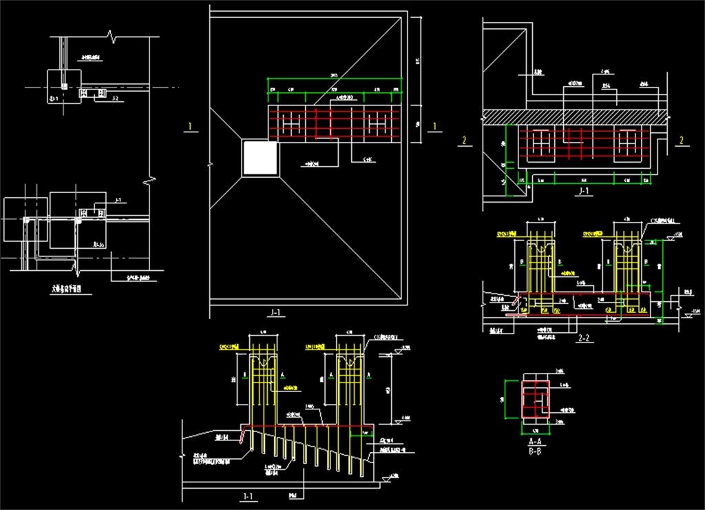 钢结构天桥cad设计图