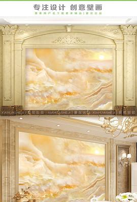 皇室大气山水石纹大理石纹背景墙