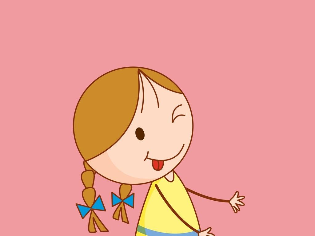 小女孩卡通简笔画笔画