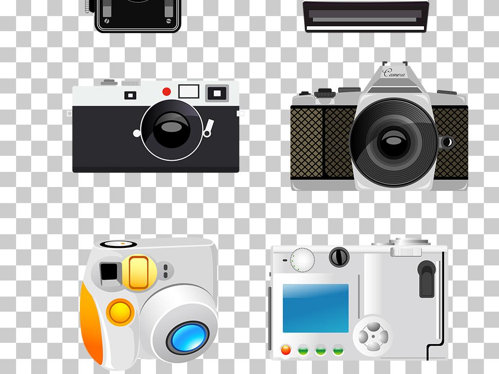 设计作品简介: 卡通手绘相机png素材 位图, rgb格式高清大图,使用软件