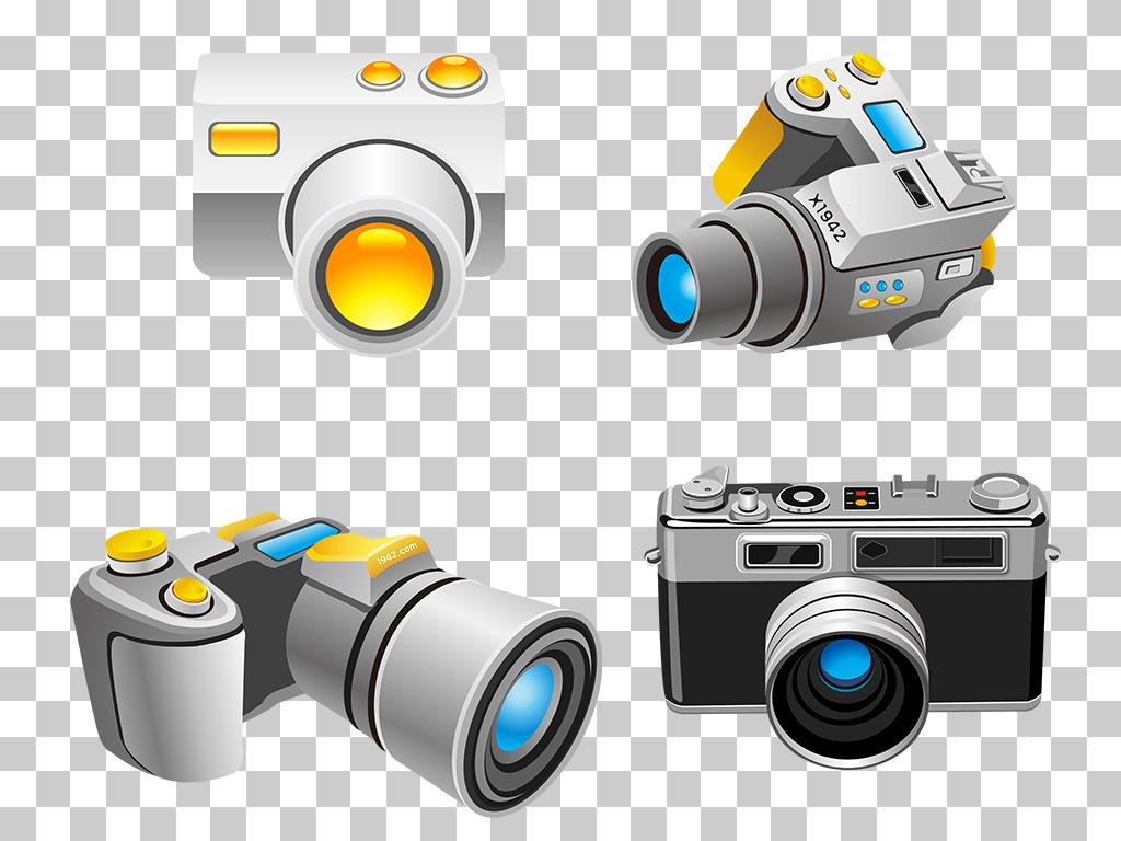 素材卡通手绘相机单反数码相机单反单反镜头单反相机