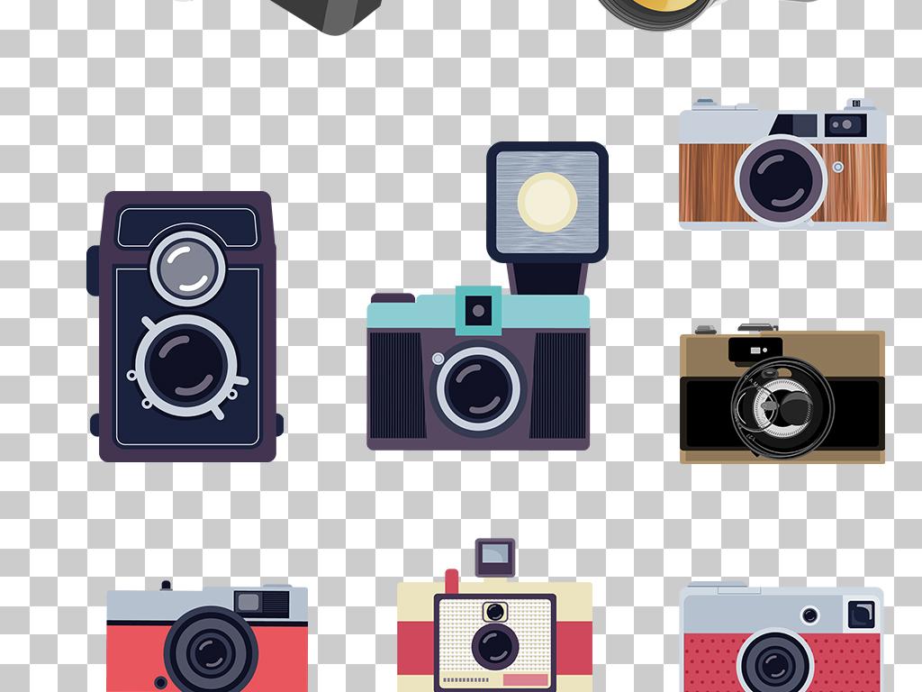 卡通手绘相机png素材