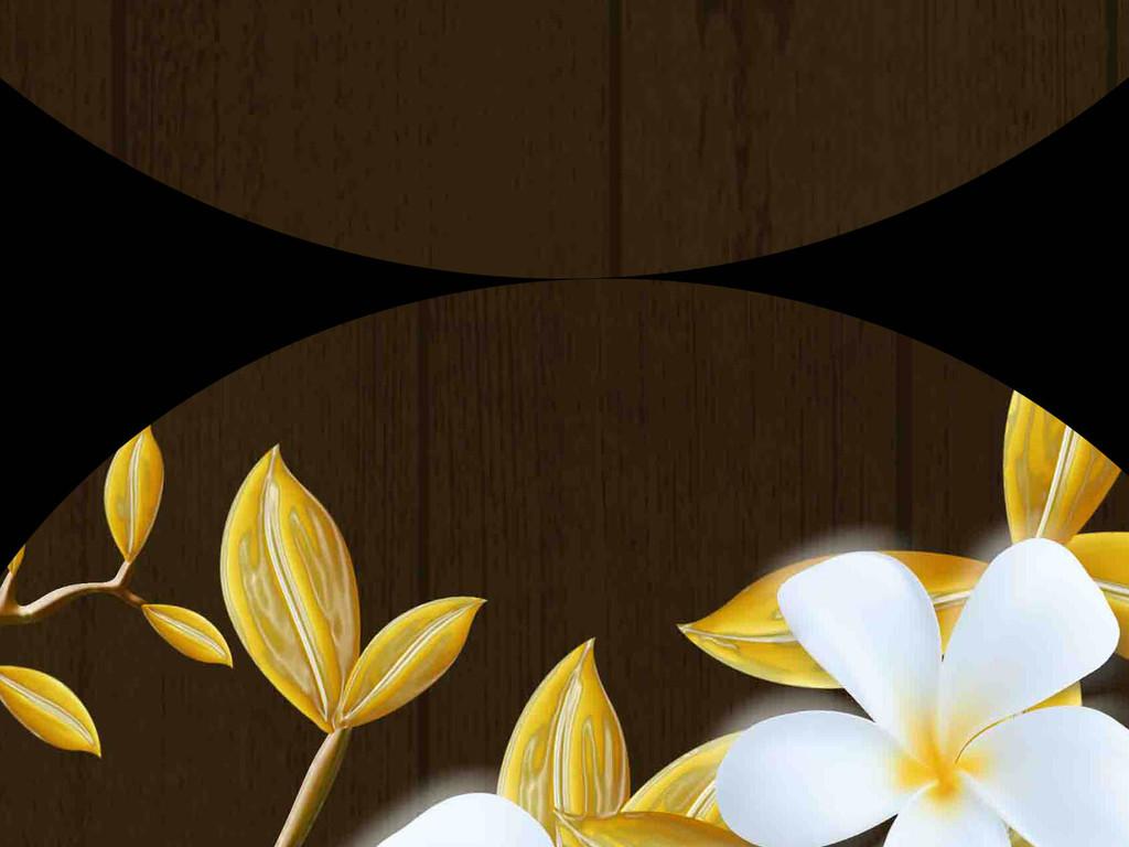 新中式手绘浮雕花鸟背景墙