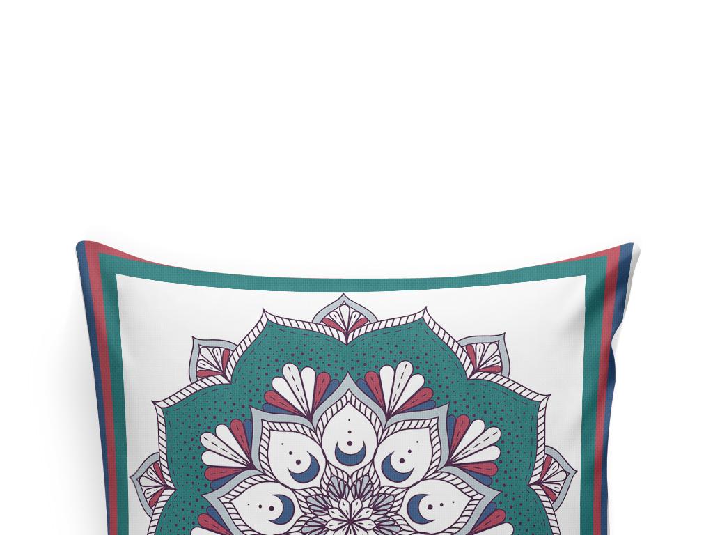 欧式花纹北欧风抱枕图案设计