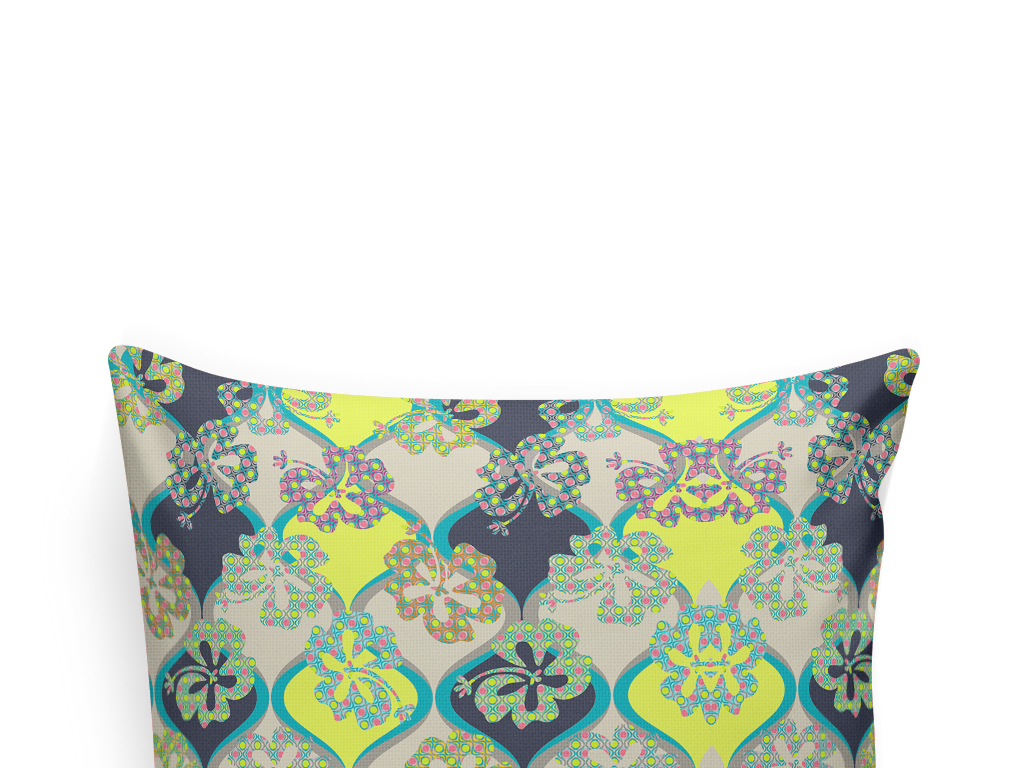 欧式花纹抱枕图案设计植物花卉