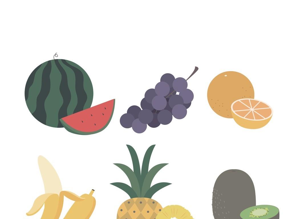 玻璃香蕉手机壳图案装饰画插画杯子图案蔬菜水果