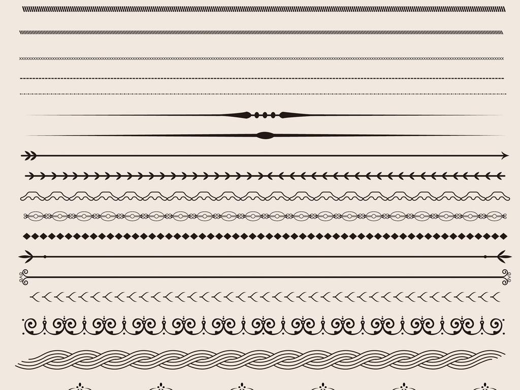 欧式边框底纹分割线矢量ai文件