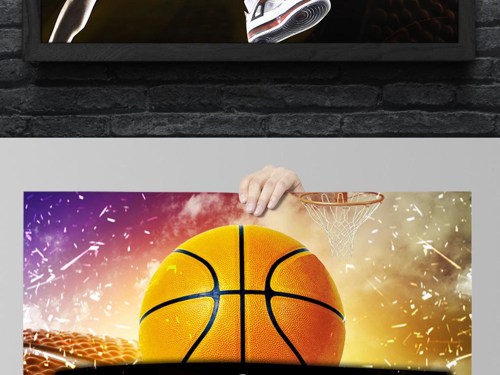 创意篮球对决海报设计|校园篮球招新海报