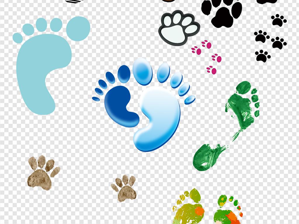 动物脚印人物脚印脚丫鞋印png素材