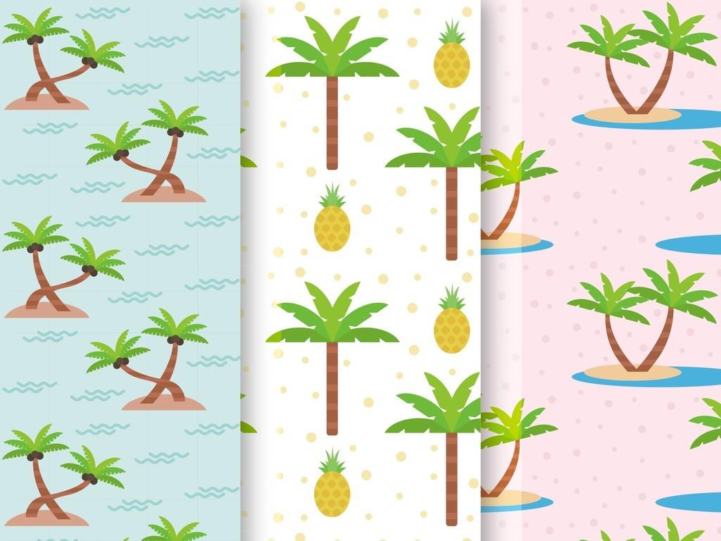 设计作品简介: 植物花卉抱枕图案设计北欧风格 矢量图, cmyk格式高清