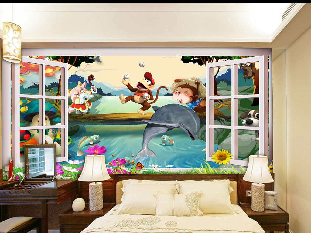 """【本作品下载内容为:""""3D儿童房窗外风景立体卡通背景墙""""模板,其他内容仅为参考,如需印刷成实物请先认真校稿,避免造成不必要的经济损失。】 【注意】作品授权不包含作品中使用到的字体和摄影图,下载作品后请自行替换。 【声明】未经权利人许可,任何人不得随意使用本网站的原创作品(含预览图),否则将按照我国著作权法的相关规定被要求承担最高达50万元人民币的赔偿责任。所有作品均是用户自行上传分享并拥有版权或使用权,仅供网友学习交流,未经上传用户授权,请勿作他用。"""