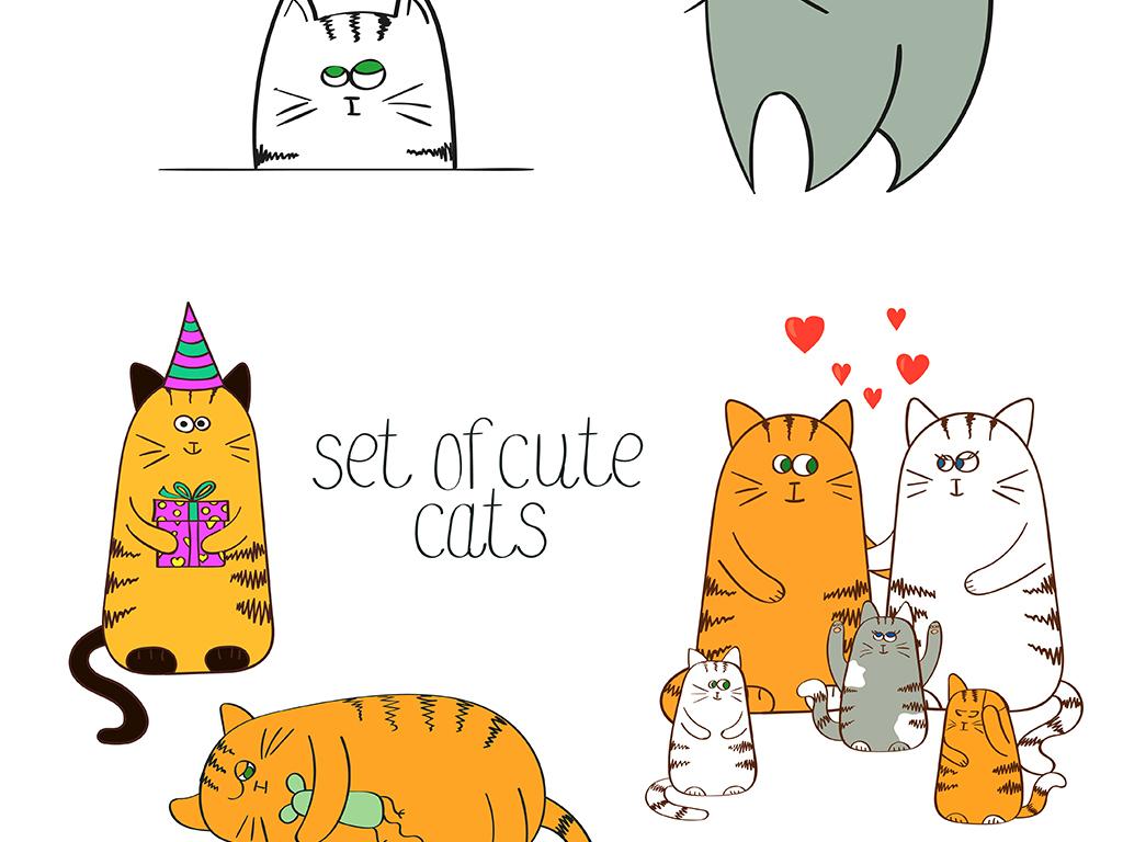 我图网提供精品流行卡通多款可爱日系猫咪造型设计矢量素材下载,作品模板源文件可以编辑替换,设计作品简介: 卡通多款可爱日系猫咪造型设计矢量素材 矢量图, CMYK格式高清大图,使用软件为 Illustrator CS(.ai)