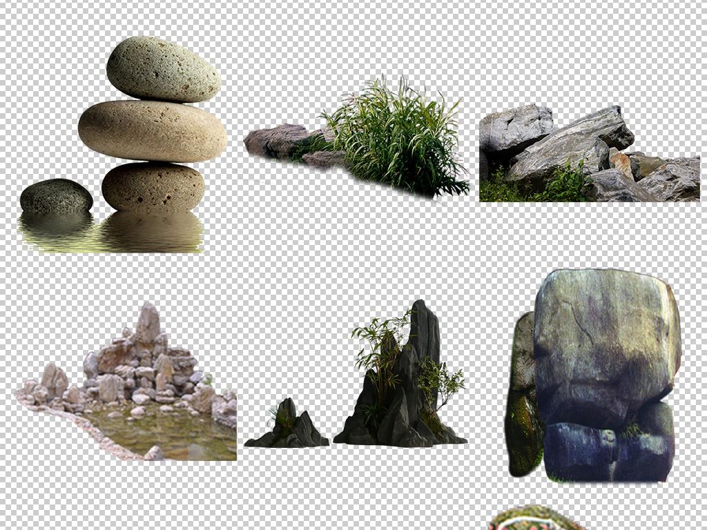 石子碎石飞溅小假山假山流水假山景观石头园林石头