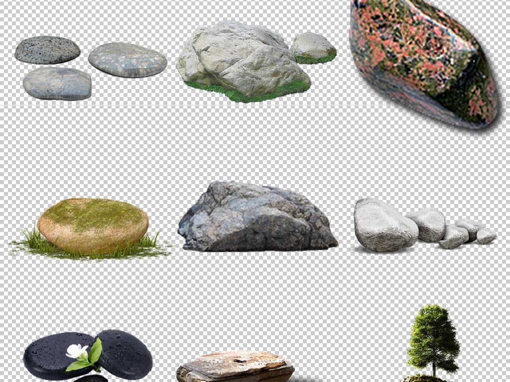 石子碎石飞溅小假山假山流水假山景观石头园林石头背
