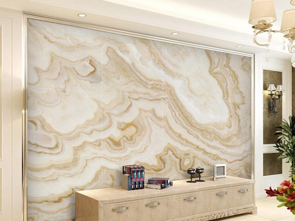 欧式大理石玉石石纹瓷砖电视背景墙