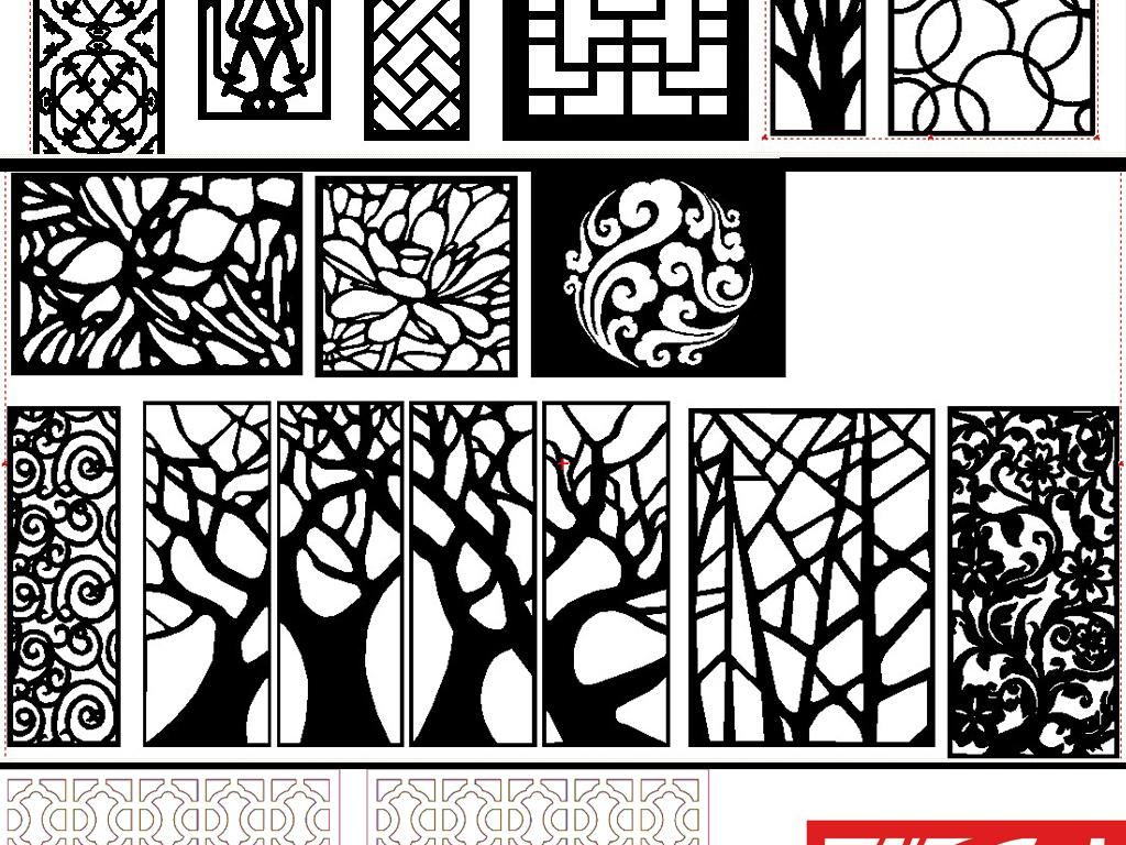 欧式花形屏风通花底纹边框窗格花边边框欧式