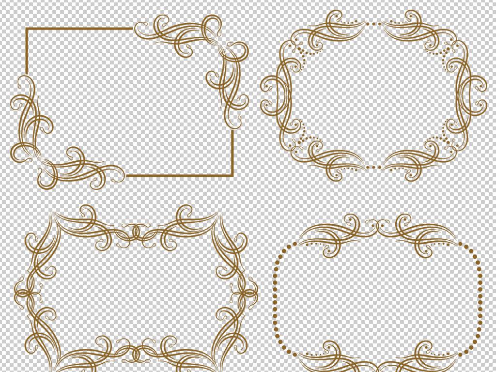 设计作品简介: 24款欧式花纹边框花纹素材 位图, rgb格式高清大图