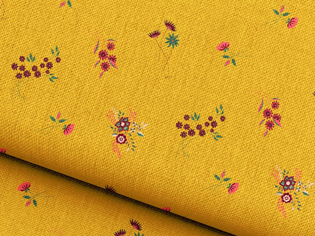 小碎花面料图案设计植物花卉背景