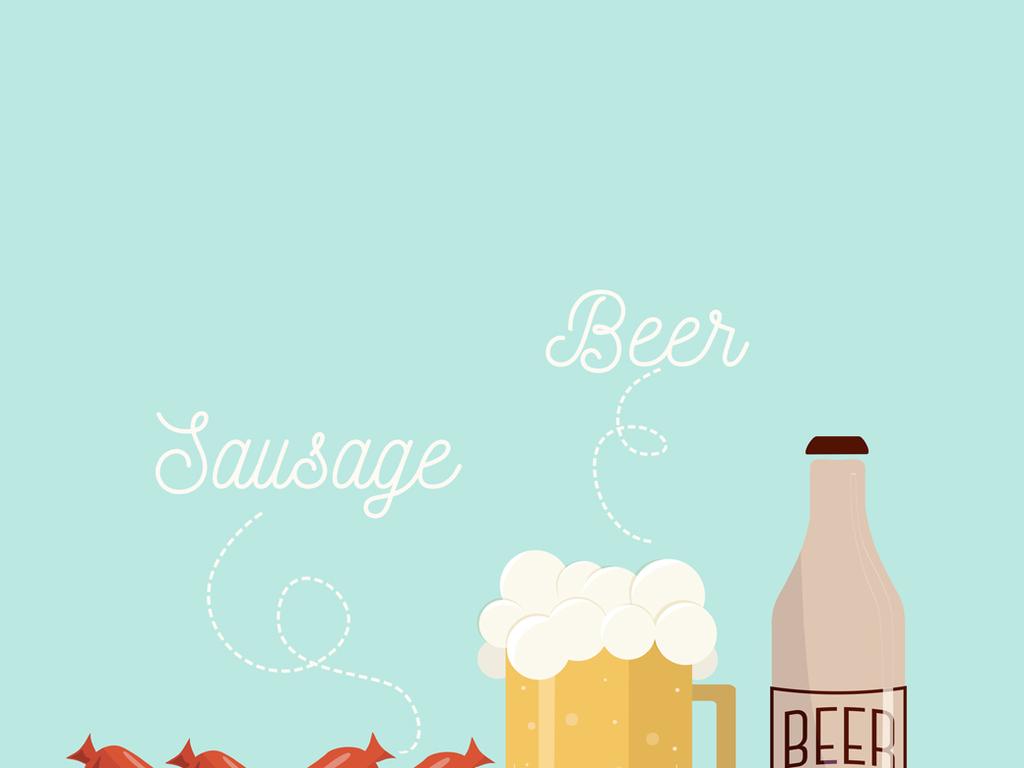 啤酒瓶                                  卡通