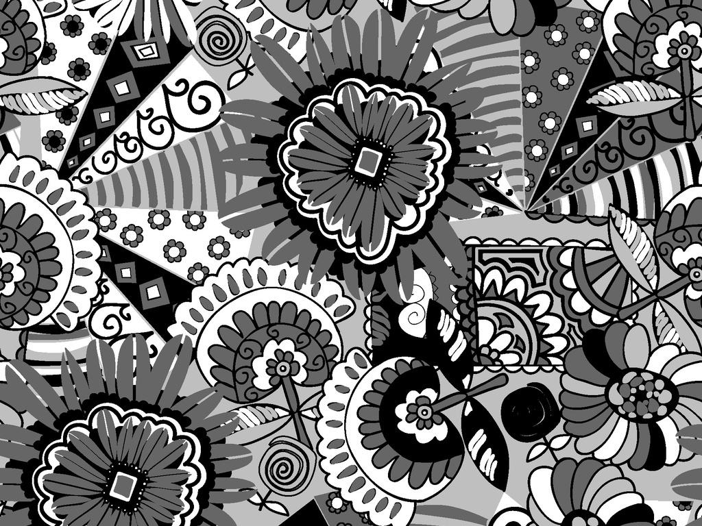 我图网提供精品流行异域风情植物图案印花循环矢量图