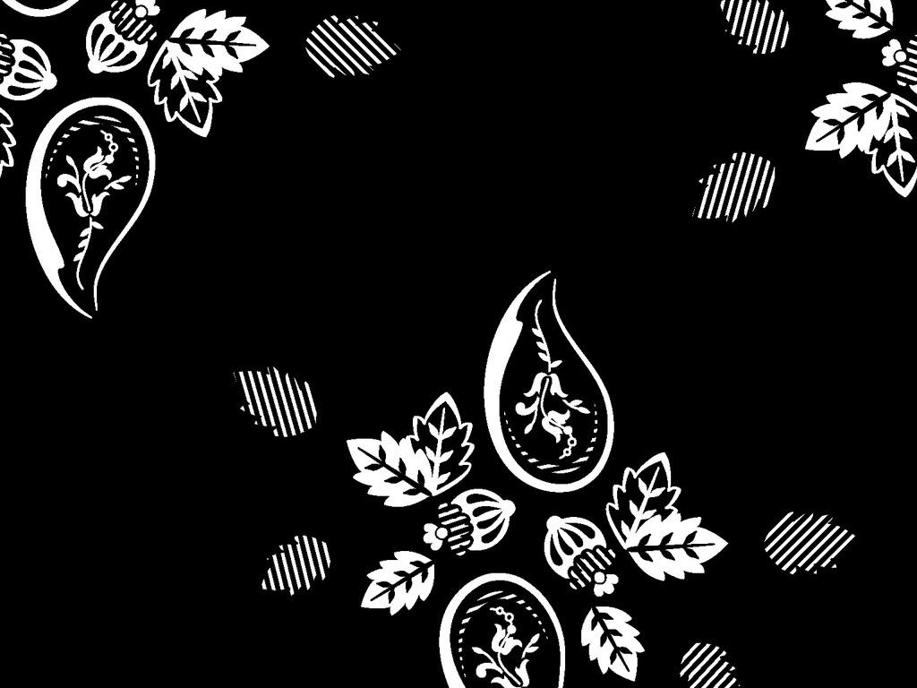 精致欧式花卉刺绣图案循环矢量图