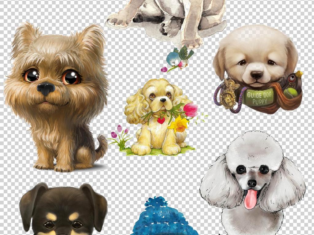 背景动物手绘小狗宠物小狗小猫小狗素材小狗可爱卡通