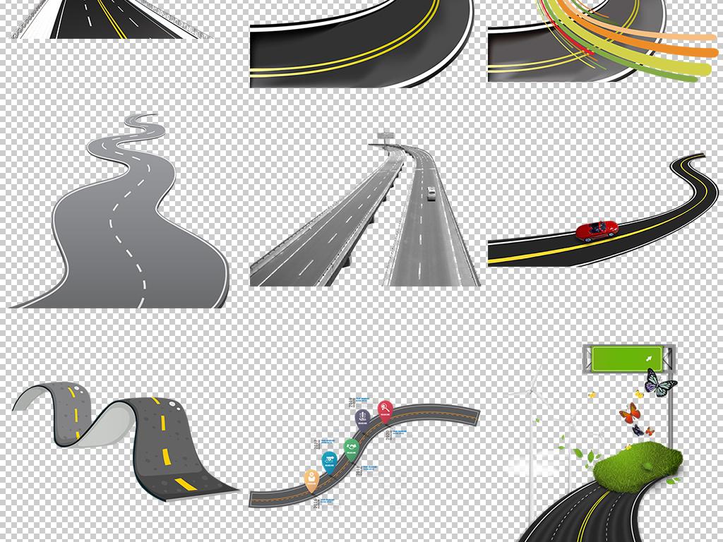 设计元素 背景素材 其他 > 城市公路道路柏油马路免扣图片