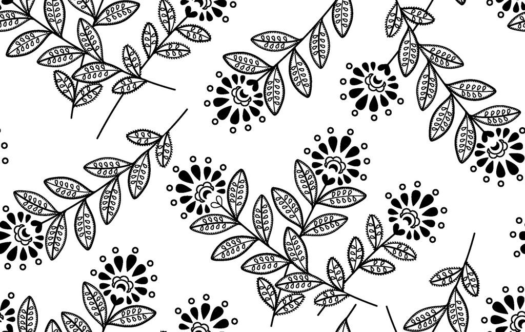 我图网提供精品流行可编辑枝叶印花图案