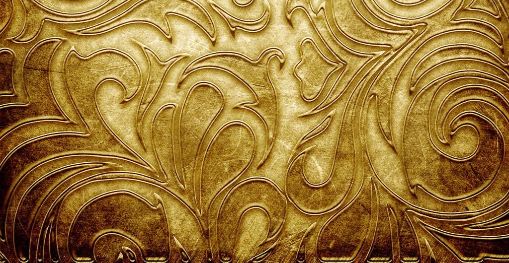 设计元素 其他 其他 > 金属花纹雕刻金属金黄材质黄金背景  版权图片