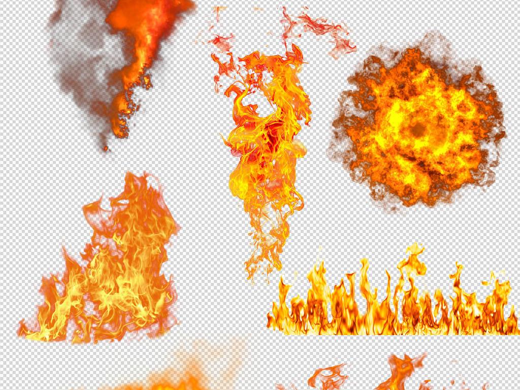 火光火焰火苗烈火烟雾特效png素材图片
