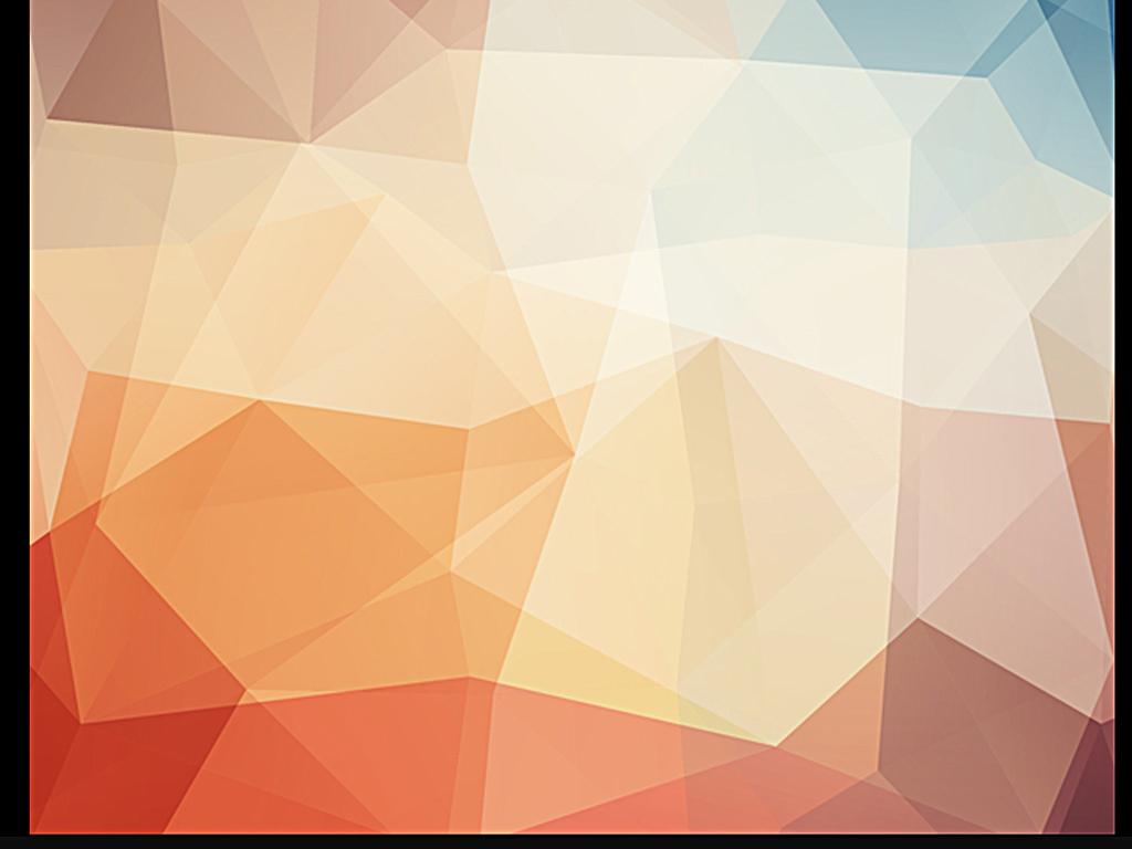 炫彩渐变几何抽象蓝色抽象抽象时尚科技元素