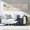 新中式手绘花鸟风景床头画无框画