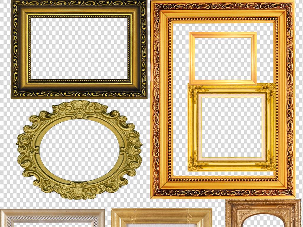设计元素 背景素材 欧式边框 > 金色高贵相框