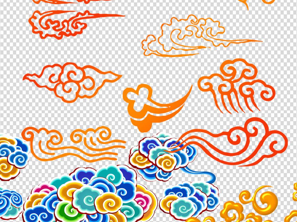 中国风元素psd设计素材花纹花边