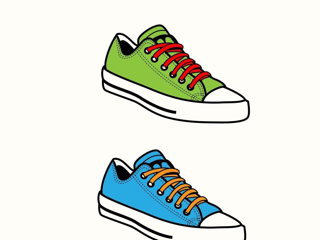 鞋子卡通矢量图