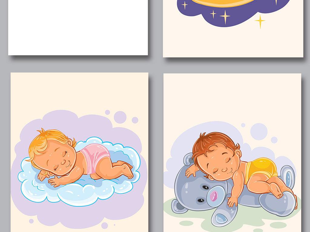 我图网提供精品流行手绘儿童睡觉主题高清背景素材