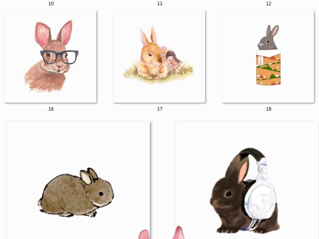 森系小动物手绘图片