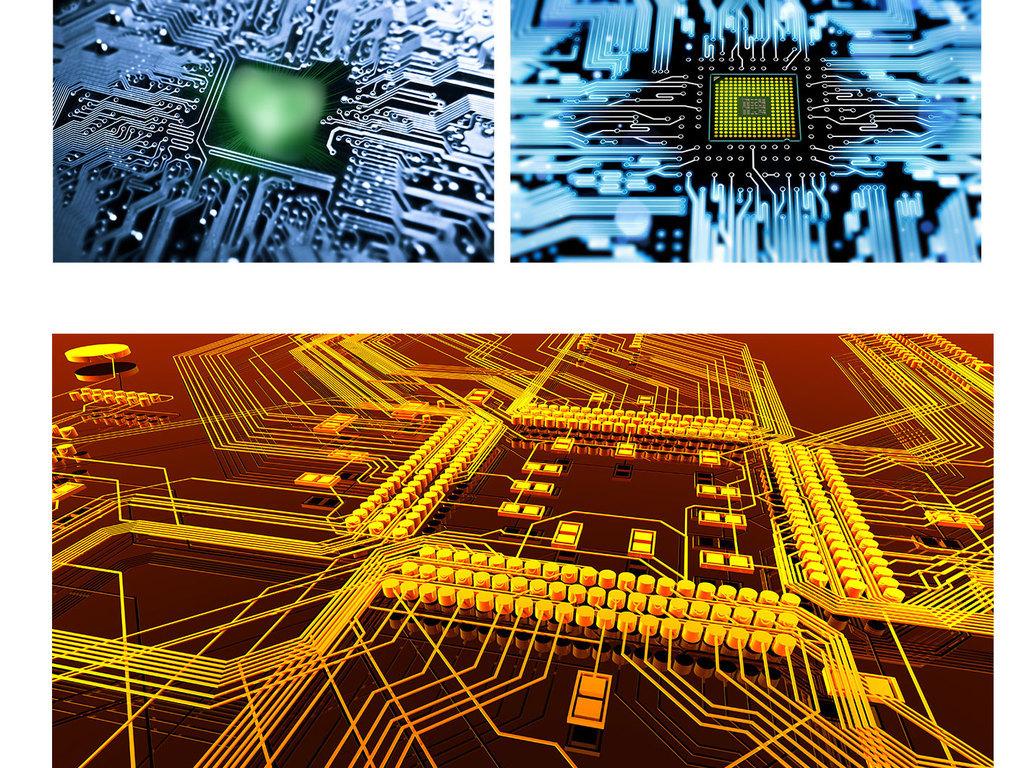 电路板电子元件免抠素材