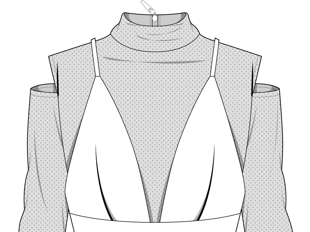 款式图模板秋冬女装款式设计                                  背心