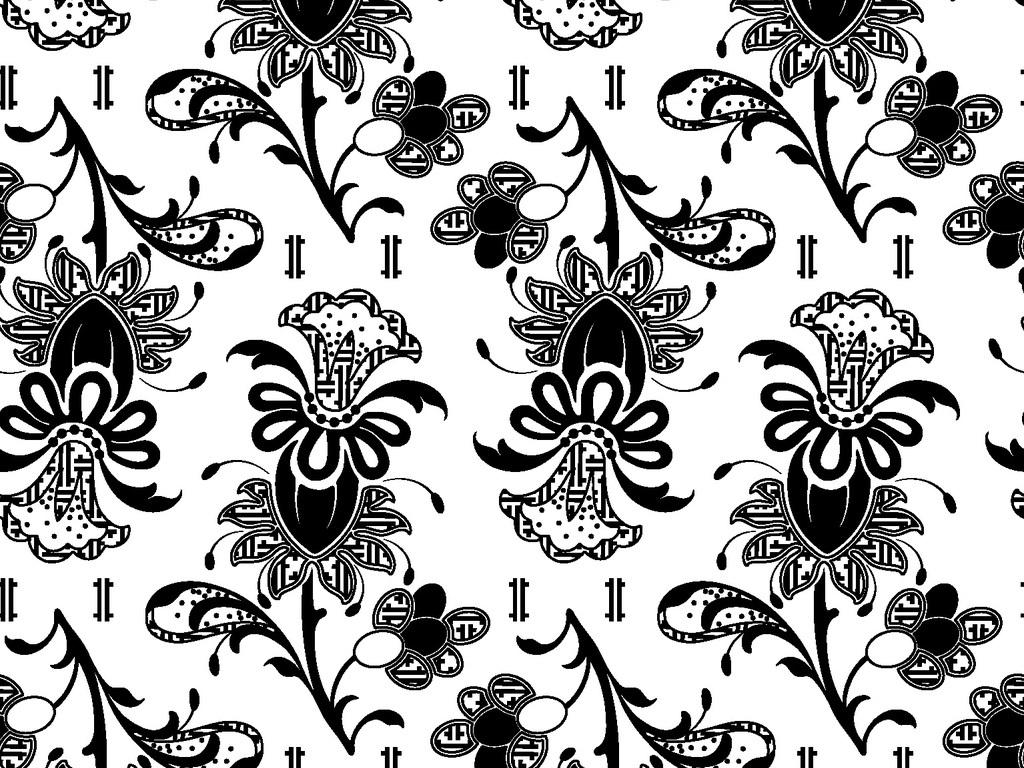 家纺家饰图案 植物花卉图案 > 传统民俗花卉循环印花矢量图
