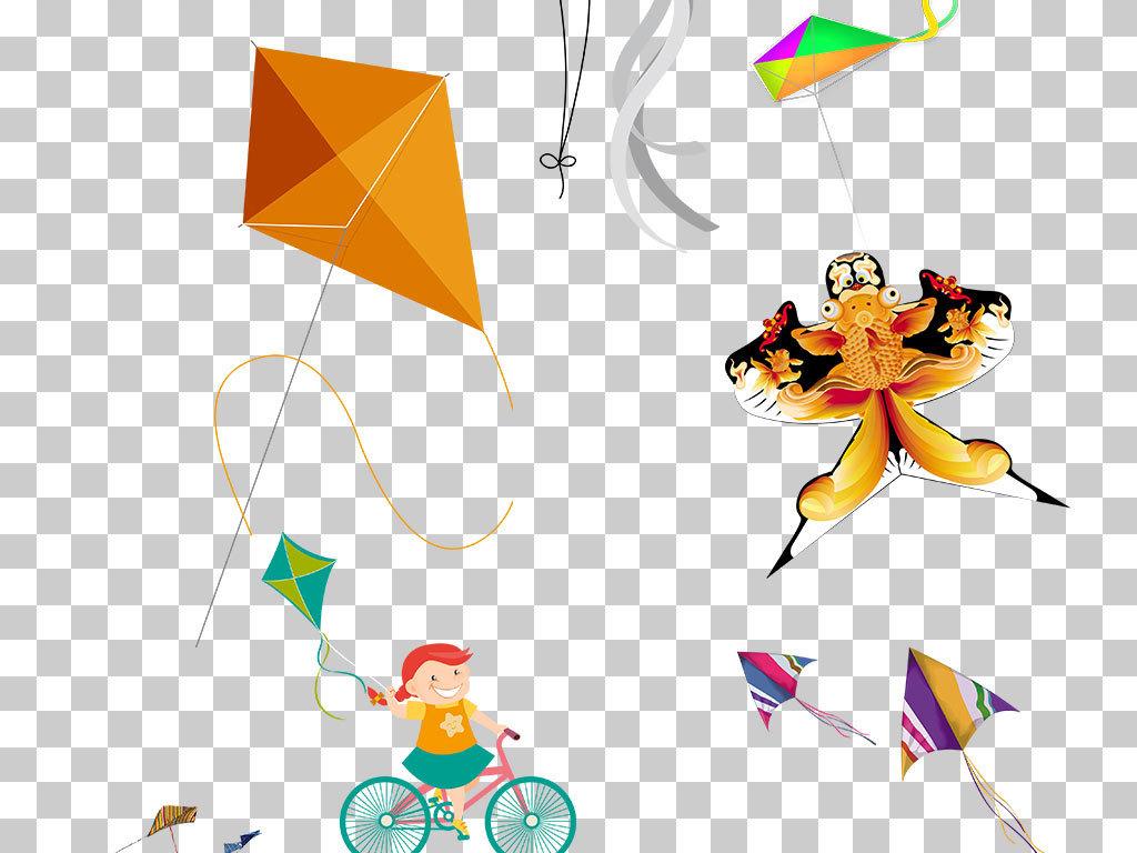 卡通放风筝三角