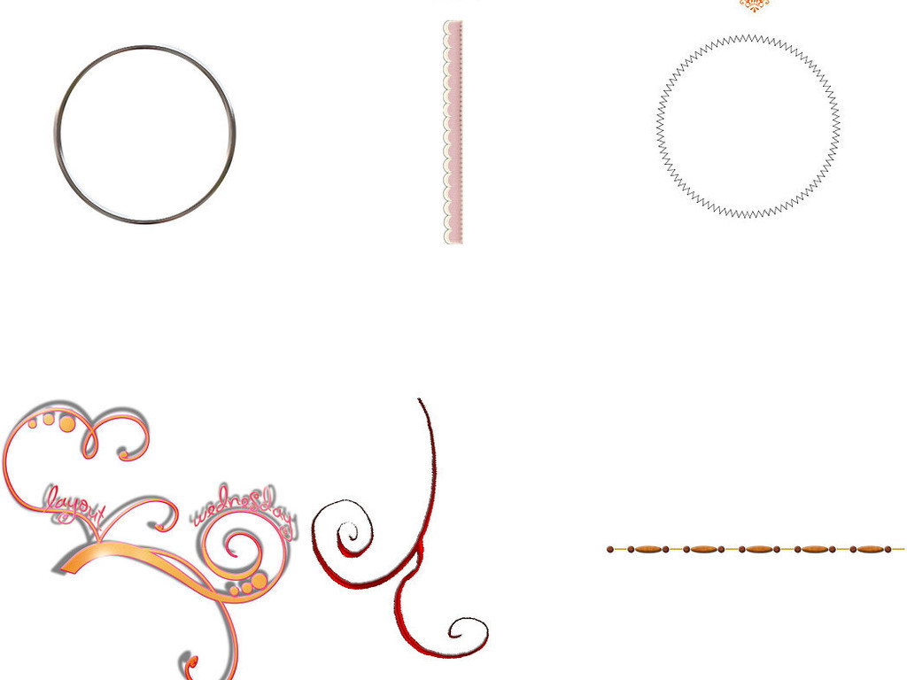 免抠png素材花纹圆方框png透明素材1