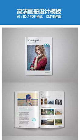 简约企业画册杂志设计模板多用途手册目录模板