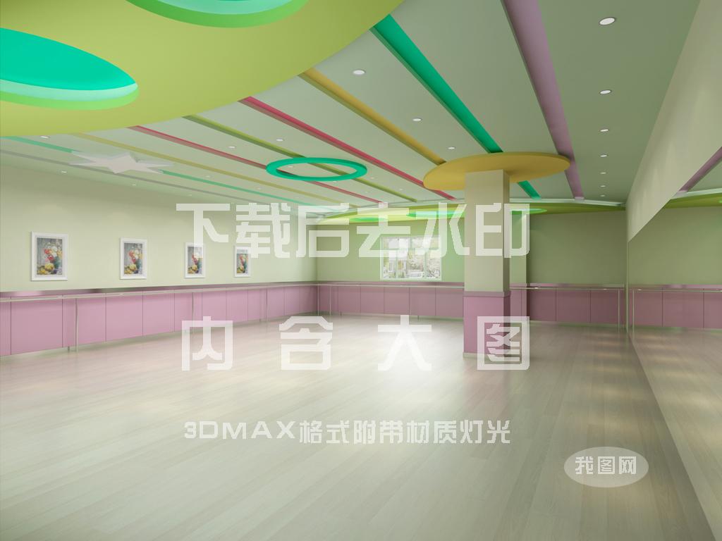 舞蹈室cad平面布置图