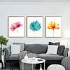 植物说水彩花卉装饰画北欧挂画现代简?#22841;?#28165;新画客厅沙发背景?#20132;?#22721;画