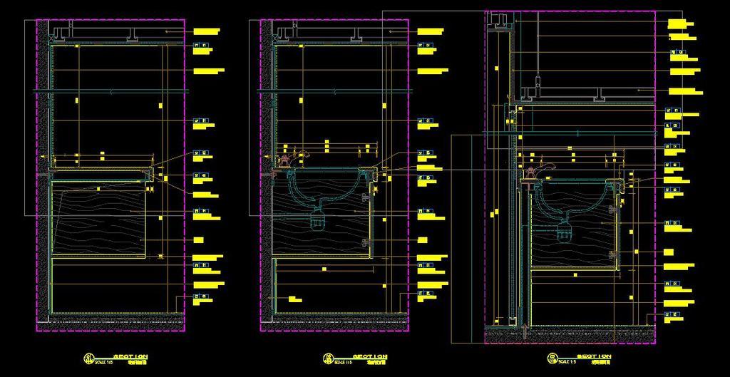 CAD天花灯槽吊顶造型大样图剖面洗手台图平面设计图下载 图片0.42
