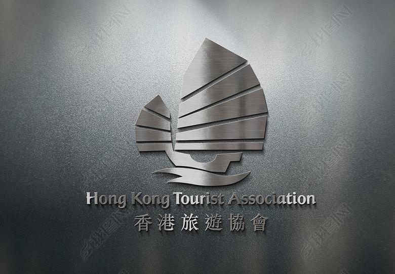 金属立体logo样机素材