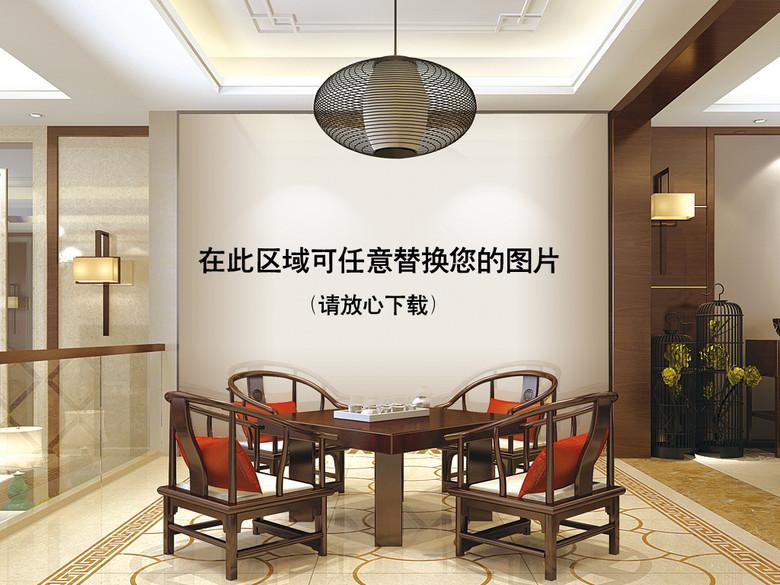 新中式餐厅场景样