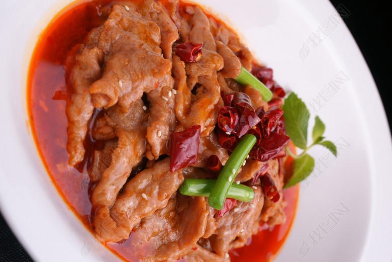 中华美食水煮嫩牛肉